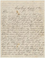 Letter from Hugh William Caffey in the hospital at Camp Winder in Richmond, Virginia, to his...