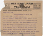 Telegrams to Governor Thomas Kilby in Montgomery, Alabama, regarding the statewide coal miners'...