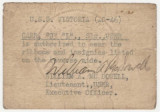 Card issued by the United States Naval Reserve, authorizing J. L. Carr to wear the ribbons and...