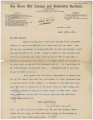 Fundraising letter from William J. Edwards, principal of the Snow Hill Normal and Industrial...