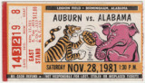 Tickets to the 1981 and 1983 Iron Bowl, the annual football game between Auburn University and the...