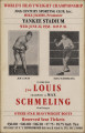 Poster advertising a boxing match between Joe Louis and Max Schmeling, to be held at Yankee...