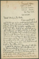 Letter from Penrose Vass Stout, stationed in England and France, to his family.