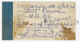 Hospital records for Penrose Vass Stout after his injury from an aerial dogfight near St. Mihiel...