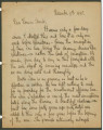 Letter from Penrose Vass Stout in Hyeres, France, to his cousin, Frank Ross Chambers, in...