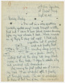 Letter from Penrose Vass Stout, stationed in France, to his sister, Rebecca Stout Hoover, in...