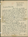 Letter from Penrose Vass Stout, stationed in France, to his cousin, Kate Waller Chambers, in...