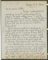 Letter from Penrose Vass Stout, stationed in France, to his mother, Zemmie Stout Lawton.