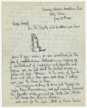 Letter from Penrose Vass Stout in Orly, France, to his cousin, Margie.