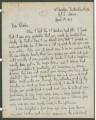 Letter from Penrose Vass Stout in Issodun, France, to Charlie, an aviator stationed in Tours,...