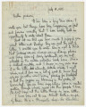Letter from Penrose Vass Stout, stationed in France, to his mother, Zemmie Stout Lawton, in...