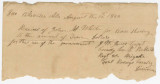 Receipt for payment by Captain J. W. Jones to John M. White in Pikeville, Alabama.