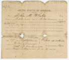 Oath of Allegiance to the United States, signed by John M. White of Pikeville, Alabama.