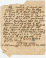Letter from George A. White to his mother, Jane, in Marion County, Alabama.
