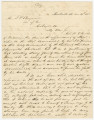 Handwritten copy of a letter from C. C. Clay, Jr., in Huntsville, Alabama, to Judah P. Benjamin in...