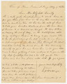 Letter from Sergeant W. S. Hooper in camp near Fredericksburg, Virginia, to Elizabeth Pearson...