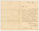 Letter from David Lowry Swain at the Exchange Hotel in Montgomery, Alabama, to Michael Leonard...