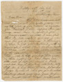 Letter from John Thomas Pearson in Chattanooga, Tennessee, to his brother in Louina, Alabama.