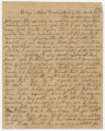 Letter from Francis McDade Danielly in camp near Fredericksburg, Virginia, to his wife, Elizabeth,...