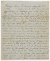 Letter from Francis McDade Danielly in camp near Richmond, Virginia, to his wife, Elizabeth, in...