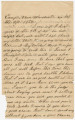Letter from Francis McDade Danielly, in camp near Winchester, Virginia, to his wife, Elizabeth...