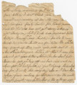 Incomplete letter from Elizabeth Pearson Danielly, in Louina, Alabama, to her husband, Francis...