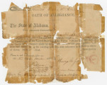 Oath of Allegiance to the United States signed by George M. Jones of Lowndes County, Alabama.