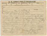 U.S. Army Field Message to Captain Raymond Brown, commanding officer of the 2nd Battalion, 167th...