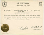 Diploma awarded to William H. Wood, Jr., by Air Unviersity at Maxwell Air Force Base in...