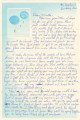 Letter from Private Johnny Harris at basic training in Fort Benning, Georgia, to Martha Bruner in...