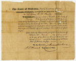 Election returns from Perry County filed with the Alabama secretary of state in 1824.