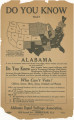 Flier from the Alabama Equal Suffrage Association, pointing out that Alabama is one of only 17...
