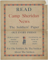 Poster advertising the Camp Sheridan News,