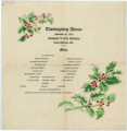 Menu for the Thanksgiving Dinner for Company L, 45th Infantry at Camp Sheridan in Montgomery, Alabama.